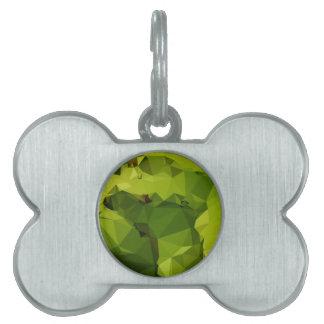 Fondo bajo abstracto verde del polígono del placas de mascota