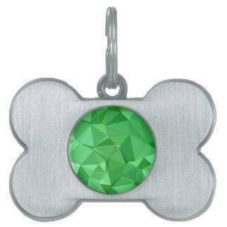 Fondo bajo abstracto verde del polígono del placas de nombre de mascota