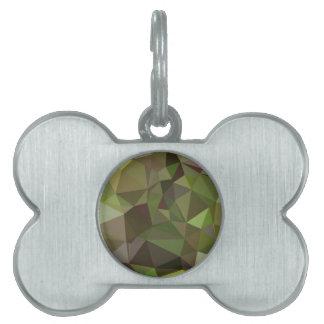 Fondo bajo abstracto verde del polígono del placas mascota