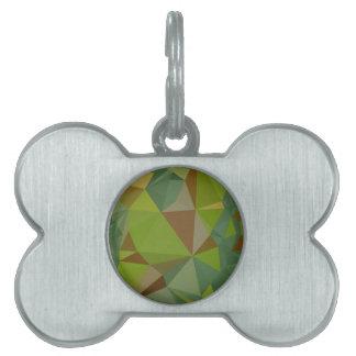 Fondo bajo abstracto verde en colores pastel placas mascota