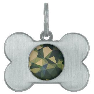 Fondo bajo abstracto verde inglés del polígono placa mascota