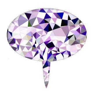 Fondo bajo abstracto violeta azul del polígono decoración para tarta