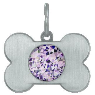 Fondo bajo abstracto violeta azul del polígono placas mascota