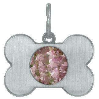 Fondo bajo del polígono del extracto del rosa placa mascota