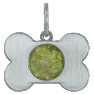Fondo bajo del polígono del extracto del verde de placa de nombre de mascota