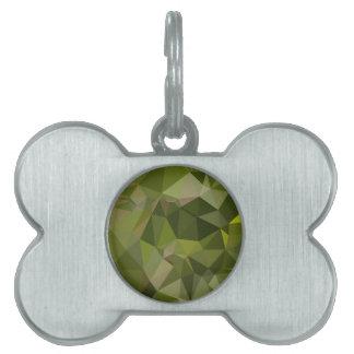 Fondo bajo del polígono del extracto del verde de placas de mascota
