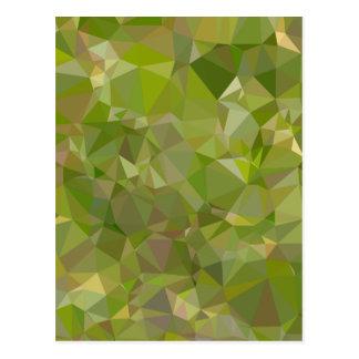 Fondo bajo del polígono del extracto del verde de tarjetas postales