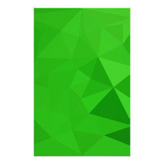 Fondo bajo del polígono del extracto del verde del personalized stationery