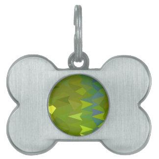 Fondo bajo del polígono del extracto del verde del placa de mascota