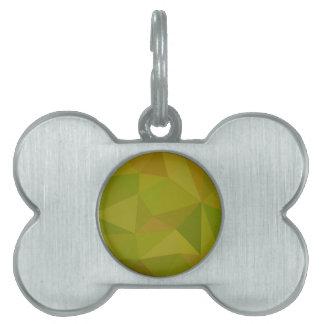 Fondo bajo del polígono del extracto del verde del placas de nombre de mascota
