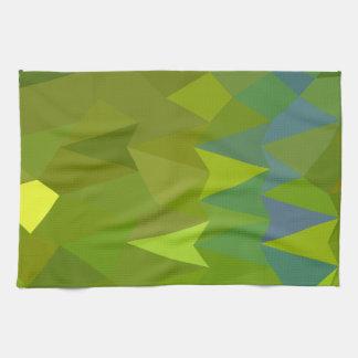 Fondo bajo del polígono del extracto del verde del toallas de cocina