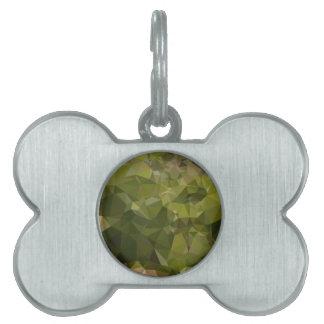 Fondo bajo del polígono del extracto del verde placa de mascota