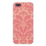 Fondo barroco del damasco del estilo iPhone 5 fundas