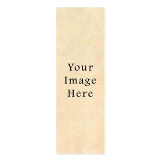 Fondo beige del papel de pergamino del ante del vi tarjetas de visita mini