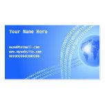 Fondo binario del globo, su nombre aquí, tarjeta de negocio