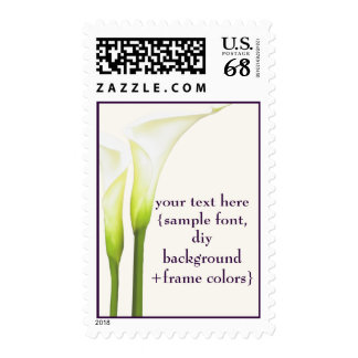 Fondo blanco de la cala Lily/DIY de PixDezines Timbre Postal