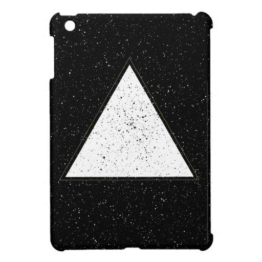 Fondo blanco del negro del triángulo del espacio d iPad mini funda