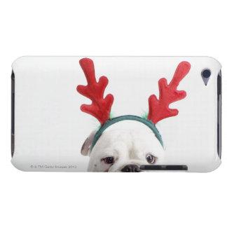 fondo blanco, dogo masculino blanco, rojo iPod touch Case-Mate cárcasas
