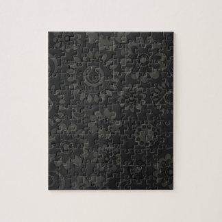 Fondo blanco y negro de las flores puzzle