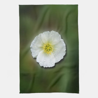 Fondo borroso de la amapola blanca toalla
