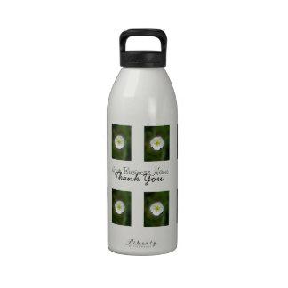 Fondo borroso de la amapola blanca; Promocional Botellas De Agua Reutilizables