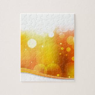 Fondo borroso de la luz anaranjada puzzle con fotos