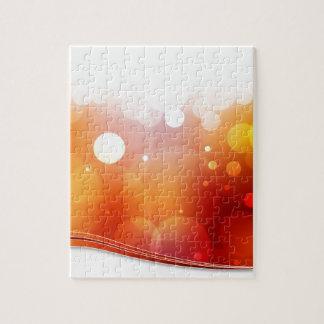 Fondo borroso de la luz roja puzzle