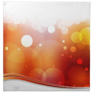 Fondo borroso de la luz roja servilletas imprimidas