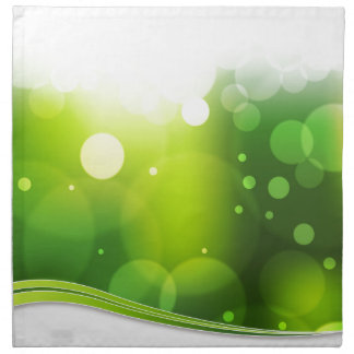 Fondo borroso de la luz verde de Bokeh Servilleta Imprimida