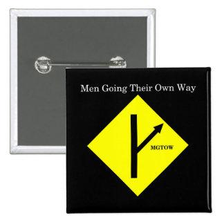 Fondo Botón-Cuadrado-Negro del logotipo de MGTOW Pins