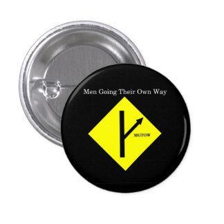 Fondo Botón-Pequeño-Negro del logotipo de MGTOW Pin Redondo De 1 Pulgada
