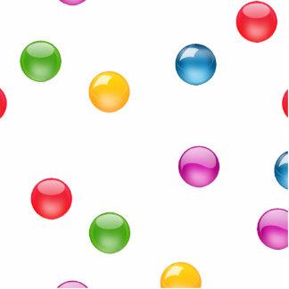 Fondo brillante multicolor del confeti DIY de Imán Fotoescultura