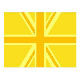 Fondo británico amarillo amarillo de la bandera de