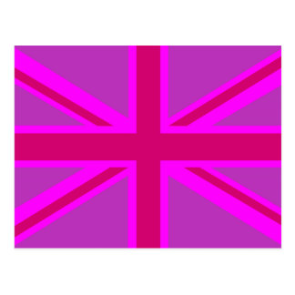 Fondo británico de la bandera de Fushia Union Jack