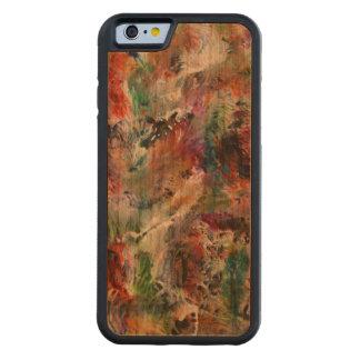 Fondo, caja de madera de la cereza del parachoque funda de iPhone 6 bumper cerezo