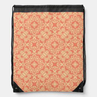 Fondo caliente brillante en estilo del vintage mochilas