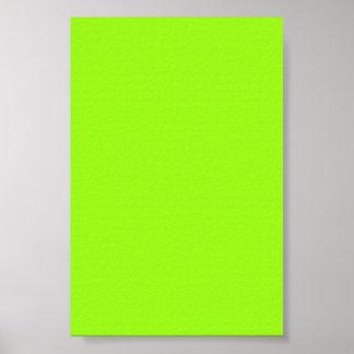 Fondo chartreuse de neón brillante de Gree en un p Poster