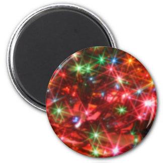 Fondo chispeante de las luces Blurred Imán Redondo 5 Cm