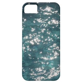 Fondo chispeante del agua de la piscina funda para iPhone SE/5/5s