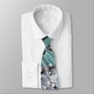 Fondo ciánico chispeante de la aguamarina del corbata