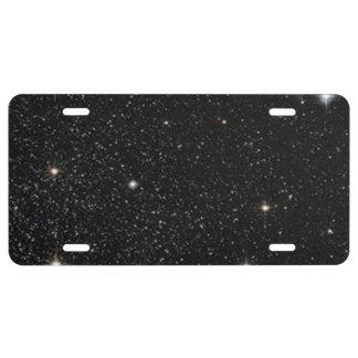 Fondo - cielo nocturno y estrellas placa de matrícula