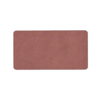 Fondo color de rosa oscuro polvoriento del papel d etiquetas de dirección