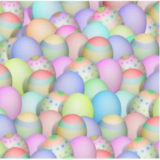 Fondo coloreado de los huevos de Pascua Fotoescultura Vertical