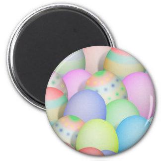Fondo coloreado de los huevos de Pascua Imán Para Frigorifico