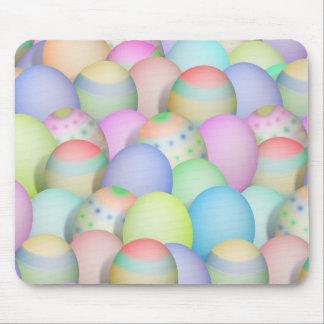 Fondo coloreado de los huevos de Pascua Tapete De Raton