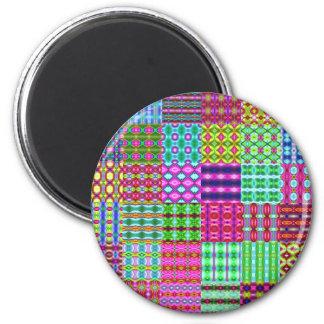 fondo coloreado de los trapos imán redondo 5 cm