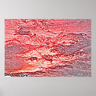 fondo coloreado rosa rojo abstracto de la puesta posters