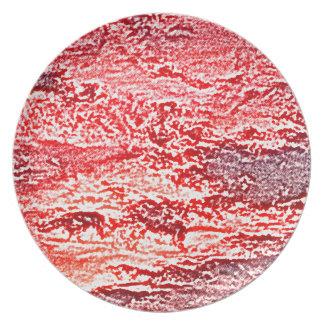 fondo coloreado rosa rojo abstracto de la puesta plato