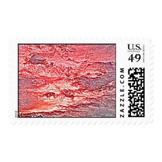 fondo coloreado rosa rojo abstracto de la puesta franqueo