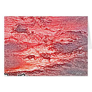 fondo coloreado rosa rojo abstracto de la puesta tarjeta